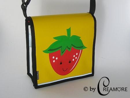 Kindergartentäschli Erdbeeri